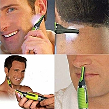 Handsome Men&Women Body Nose Nasal Ears Eyebrow Facial Hair Clipper Trimmer Shaver Green
