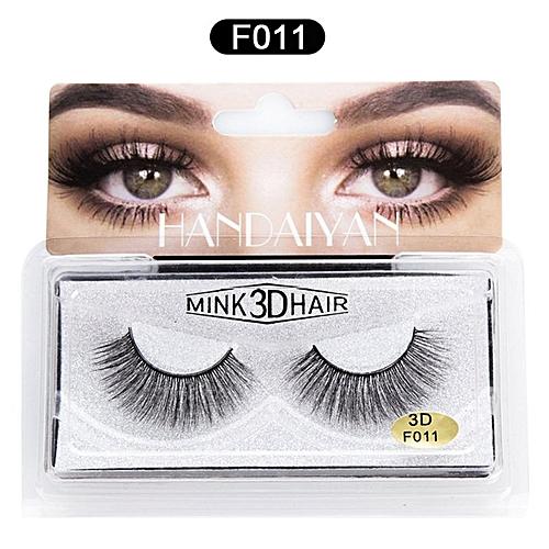 5f090d049df Allwin 3D Mink False Eyelashes Natural Thick EyeLashes Makeup Beauty Tools  Eye Makeup F011 @ Best Price   Jumia Kenya