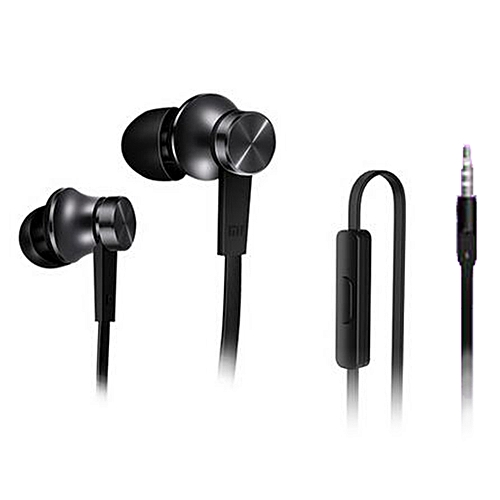 Basic Version 3.5mm In-Ear Earphones w/ Mic - Black