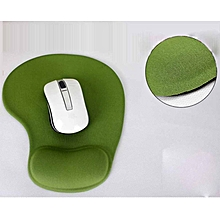 Anti-slip Comfort Mouse Pad Mat with Gel Foam Rest Wrist Support Green