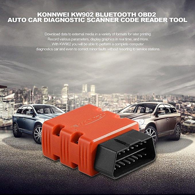 KW902 Bluetooth OBD2 Auto Car Diagnostic Scanner Code Reader Tool LBQ
