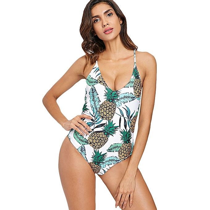 2b464820771 Generic Fashion Leadsmart Palm Pineapple Backless Swimsuit   Best ...