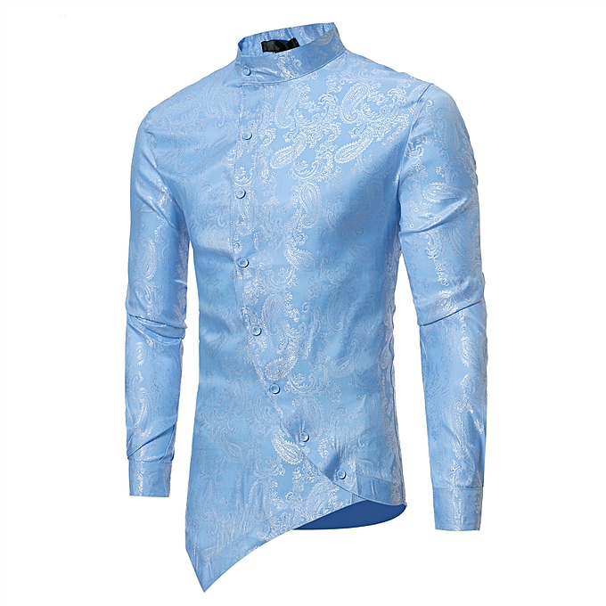 80f9e7c9c4 GeneAfrica Luxury Slim Fit Men Shirt Male Long Sleeve Shirts - Light ...