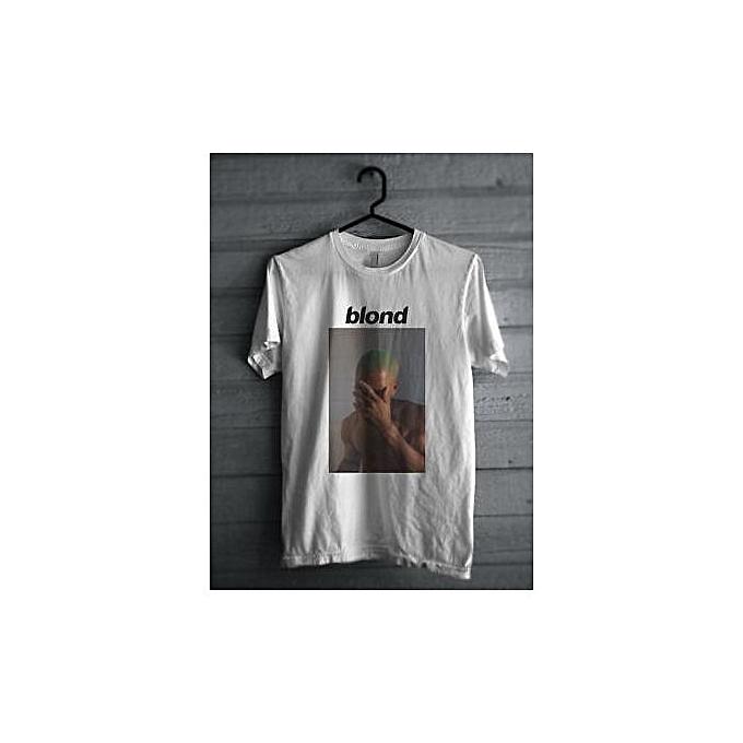 3c802520 Blonde Frank Ocean Poster Printing Men T Shirt Causal Summer Style Tees  Fashion Clothing White