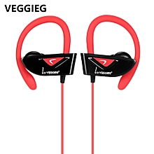 V8 Wearable Sports Bluetooth 4.1 Earphones-RED