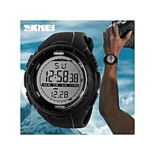 SKmei 1025 Men's Military Watch Sports Watches LED Digital Fashion Outdoor Men Wristwatches(Black)