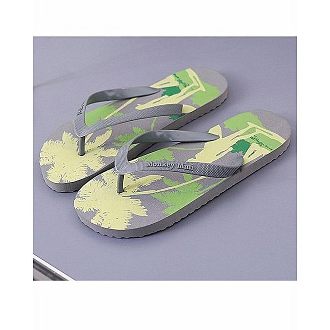 61cdfcbfa19c5 Generic Men s Printing Series Summer Flip Flop Beach Sandals Shower ...
