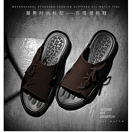 a327241fd Generic Spring 2019 Men's Slippers Breathable Beach Sandals,Leather  Slippers Home Men's Slippers Fashion Leisure Slippers