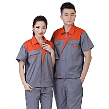 Summer Machinery Factory Workshop Auto Car Repair Engineering Service Labor Insurance Clothing Set-Grey