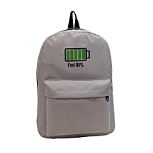 Men Women Canvas Personalized Battery Printing Backpack  Shoulder Bags -Gary