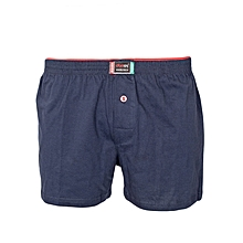 Navy Cotton Boxers