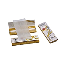 3Pcs Hornet Organic Hemp 70MM Cigarette Rolling Paper - White .