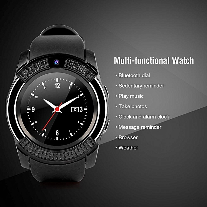 Espanson V8 Smart Watch Spor Clock With Sim TF Card Slot Bluetooth suitable  for Apple iPhone Android Phone Smartwatch wristwatch