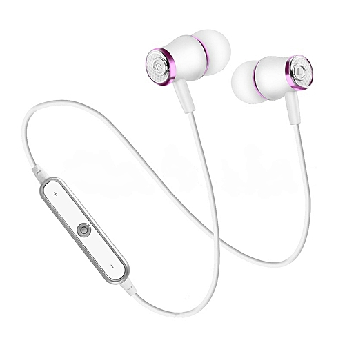 12a9c5b7e6d Generic N64 Wireless Bluetooth Headphones Super Bass Earphones Sports  Headset Sweatproof Cordless Earbuds With Mic(#Purple white)