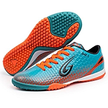 Limited Football Shoes 360 Degree No Maneuver Design High Elasticity And Flexible Nail Bottom Soccer Shoes-Light Blue