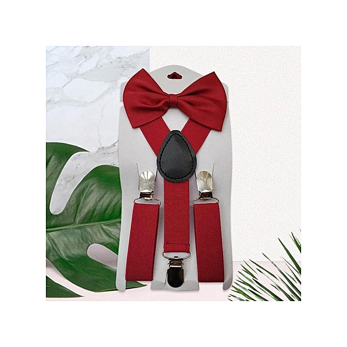 6586d342f156 ... New Adjustable Elastic Kids Suspenders With Bowtie Bow Tie Set Matching  Ties Outfits Suspender For Girl ...