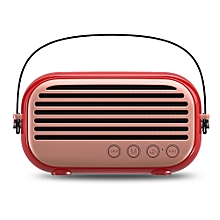 NR - 3000 Portable Wireless Bluetooth Stereo Speaker Mini Player-BEAN RED