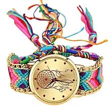 Fohting  Vansvar Handmade Ladies Vintage Quartz Watch Dreamcatcher  Friendship Watches -Colorful