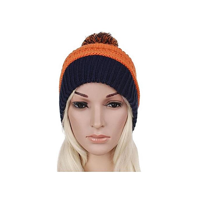 25bbc207 Wenrenmok Store Women Warm Winter Hat Knitting Snappy Hermal Knited Ski  Protection Cap-AS Shown