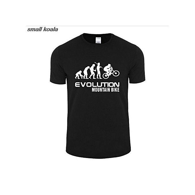 Generic Summer Evolution Of Mountain Bike T Shirt Men Funny Fashion