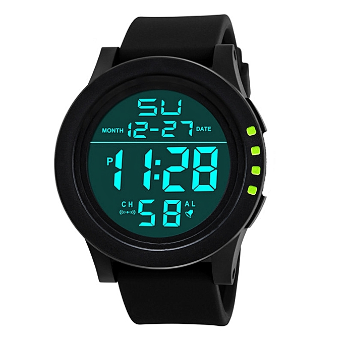 LED Waterproof Digital Quartz Fashion Watch Military Sport Men's - Green