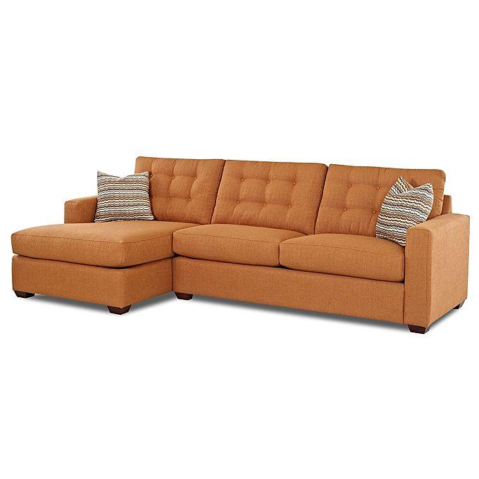 Superior Furniture Fabric L-Shape 5 Seater (Orange)