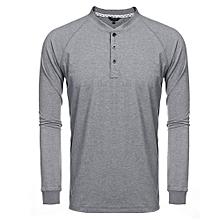 New Men Short Sleeve Print T-shirt Hollow Personality Basic Tee Casual Tops ( Black )