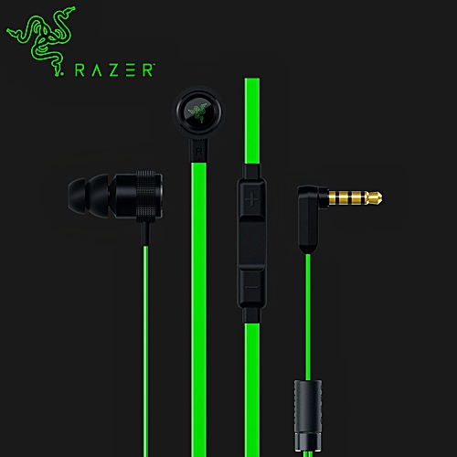 LEBAIQI Razer Hammerhead Pro V2 Earphone Flat Style Cables with  Omnidirectional 3 5mm and Volume Controls for Gaming Earphone