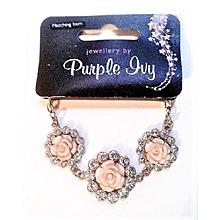 Silver and Rose Bracelet
