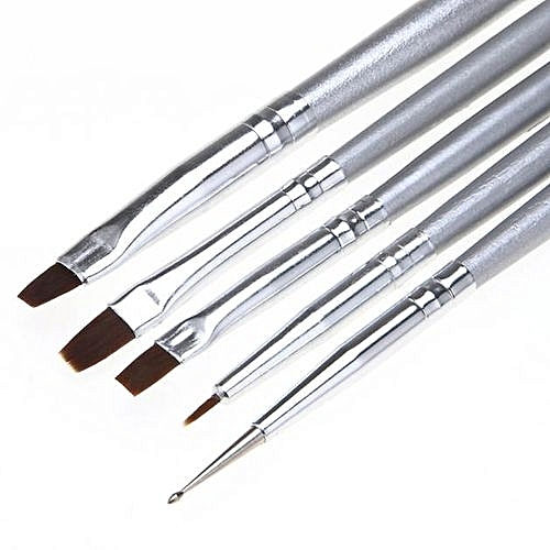 Buy Generic 5pcs Uv Gel Acrylic Nail Art Brush Set Art Builder