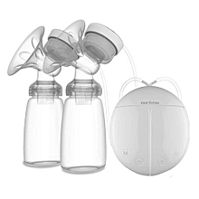 Double Electric Breast Pump, Portable Breast Pump- BPA-Free -White & Clear