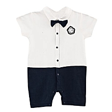 Cute Baby Bowknot cool short Sleeve Romper Jumpsuit+ a FREE pair of socks