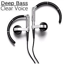 Headphone, Shuua B&O A8 Earhook Metal HiFi stereo earphones Sports headphones(Black)
