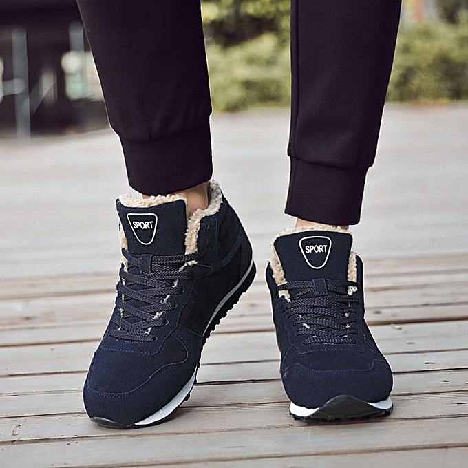 09654f33c Men Women Winter Warm Boots Plush Ankle Boot Snow Work Shoes Outdoor Snow  Boots