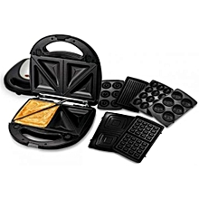 6 in 1 Multisnack maker-queencakes,waffles,doughnuts,nutties,sandwiches and meat grill