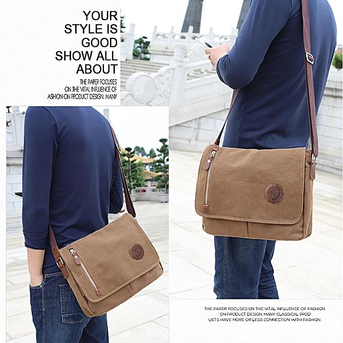 060e97182868 ... Beauty Men Canvas Shoulder Bags Large Capacity Casual Messenger Bags