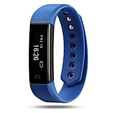 ID115 - Smart Bracelet for Android/IOS Sleep Monitor 45mAh - Blue