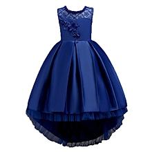 6566b5cdd84 Kids Girls Dresses Elegant Flower Princess Party Formal Sleeveless Lace  Tulle Dress For Girl