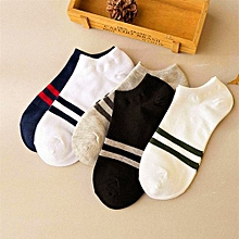 Unisex Fashion Double Stripped Socks 5 Pack