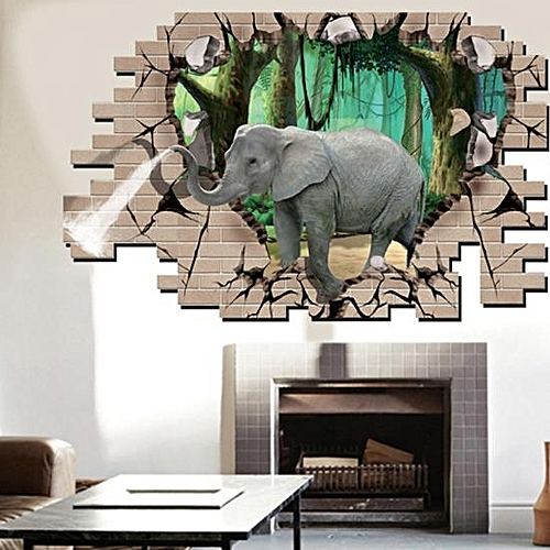 Generic 3d Elephant Forest Livingroom Bedroom Animals Floor Home