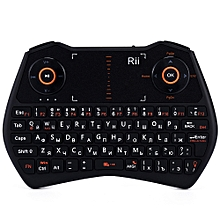 Rii Mini I28 Portable Wireless Air Mouse Keyboard - Russian Version - Black