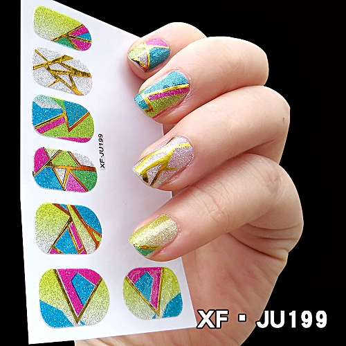 Zlime Women\'s DIY Nail Sticker Water Transfer Stickers Finger Nail ...