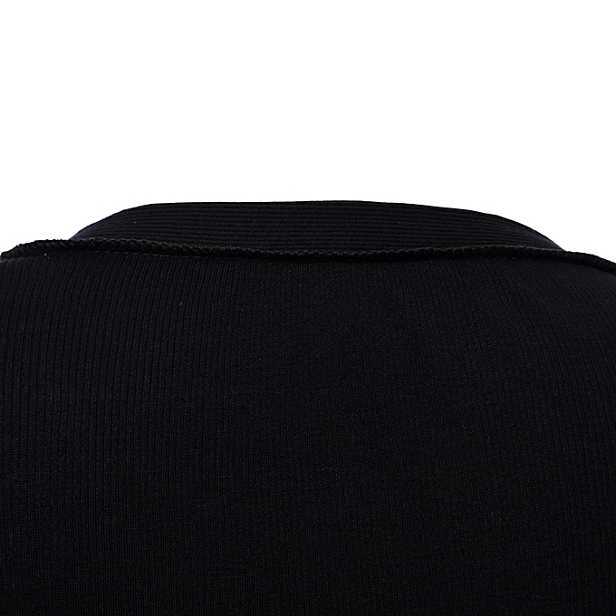 27abdd2b8986 ... Sexy Plunging Neck Long Sleeve Button Design Skinny Ladies Romper -  BLACK