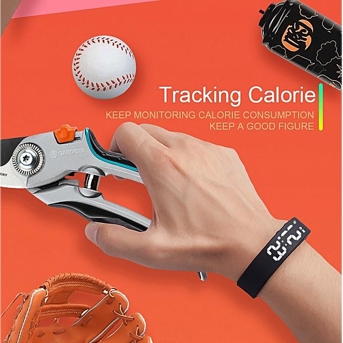 T5S Sports Calories Pedometer Smart Wristband Wristband Watch Bracelet BK