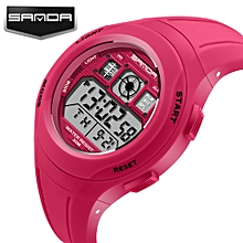 2017 SANDA Children Watches Cute Kids Watches For Girls Boys Rubber Children's Digital LED Wristwatches Reloj relogio masculino Saat 331