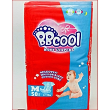 BBCool Baby Diapers, Size M (50 pieces)
