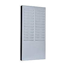 DOYO Time Card Rack Wall Mount Holder 24 Pocket Slot for Attendance Recorder Punch Time Office