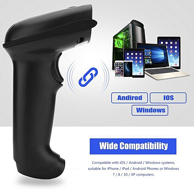 1D / 2D High Quality USB Handheld Wireless Bluetooth Barcode Scanner Reader  for iOS Android Windows