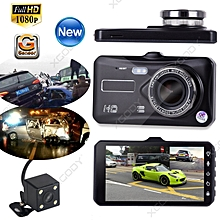 HD 1080P Dual Lens Car DVR Dash Cam Rear View Video Camera Recorder Night Vision