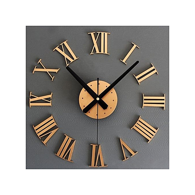 Buy UNIVERSAL DIY Luxury 3D Wall Clock Large Size Home Decoration ...